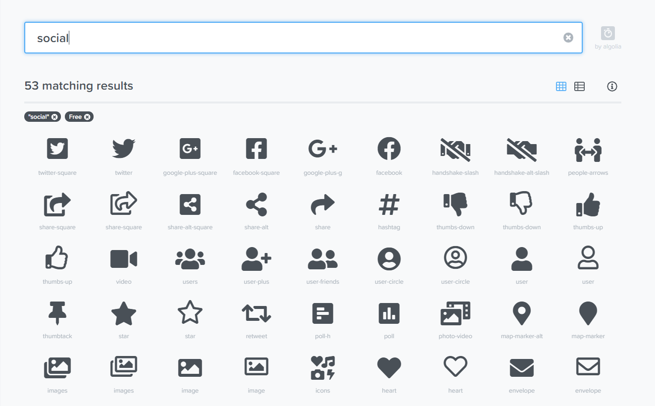 Font AwesomeIcons