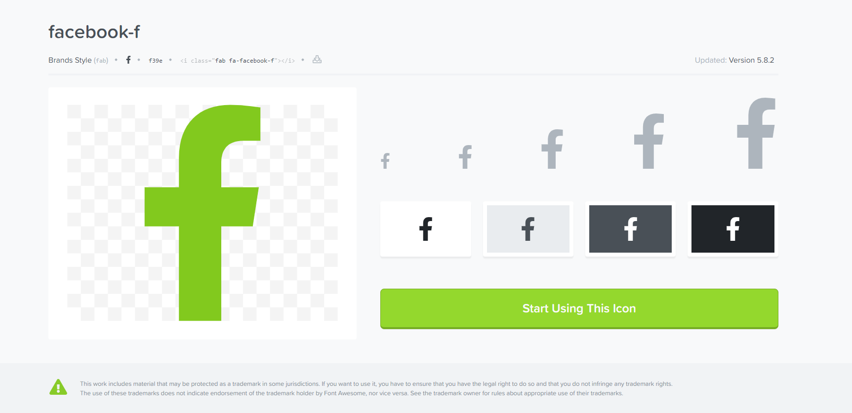 Font Awesome Facebook icon
