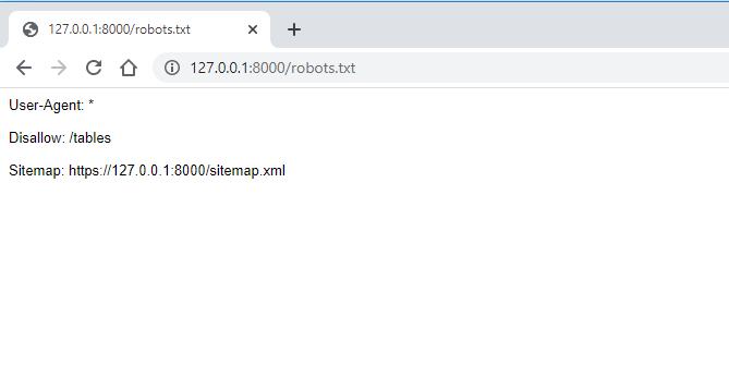 Robots.txt in a Django project