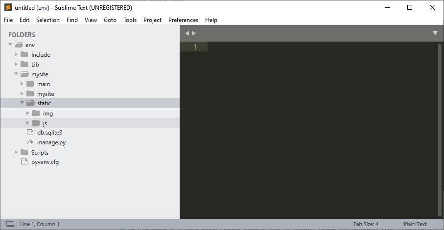 Django static js folder