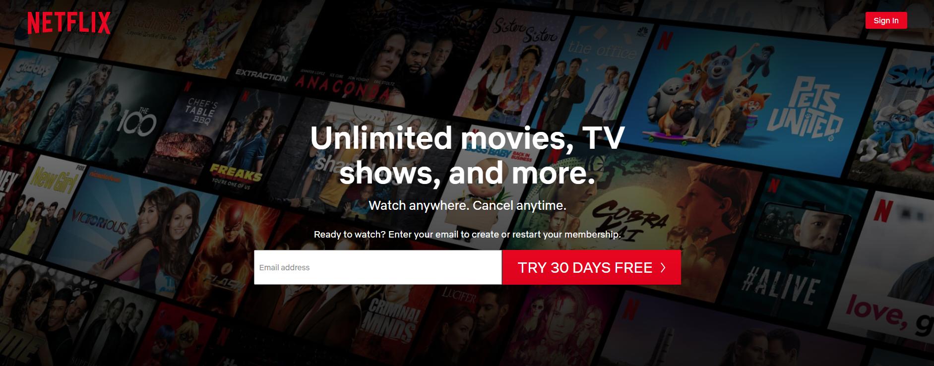 Netflix Hero Banner