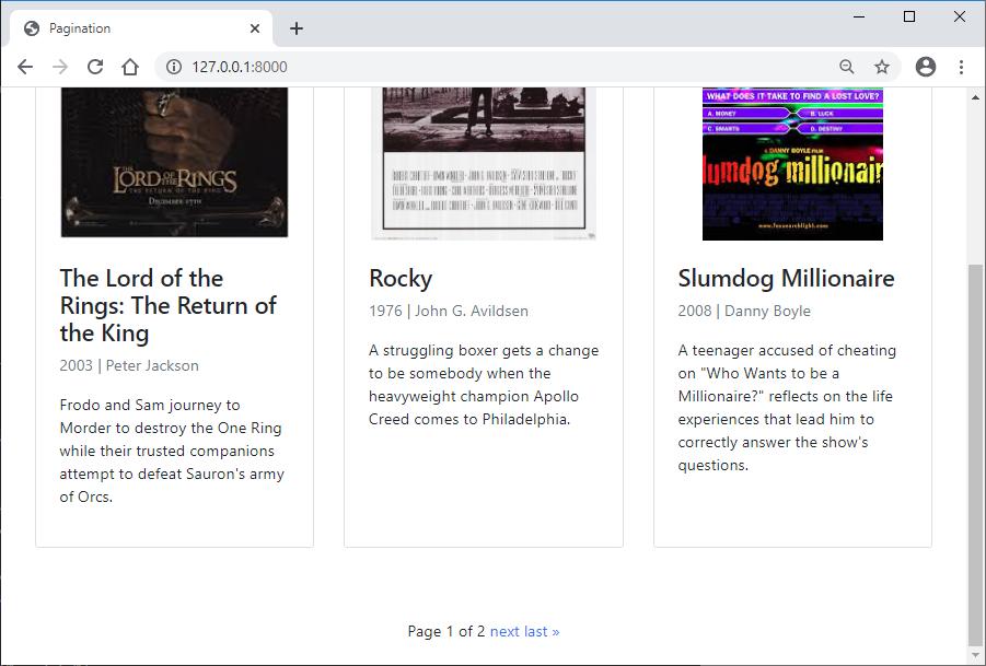 Django default pagination