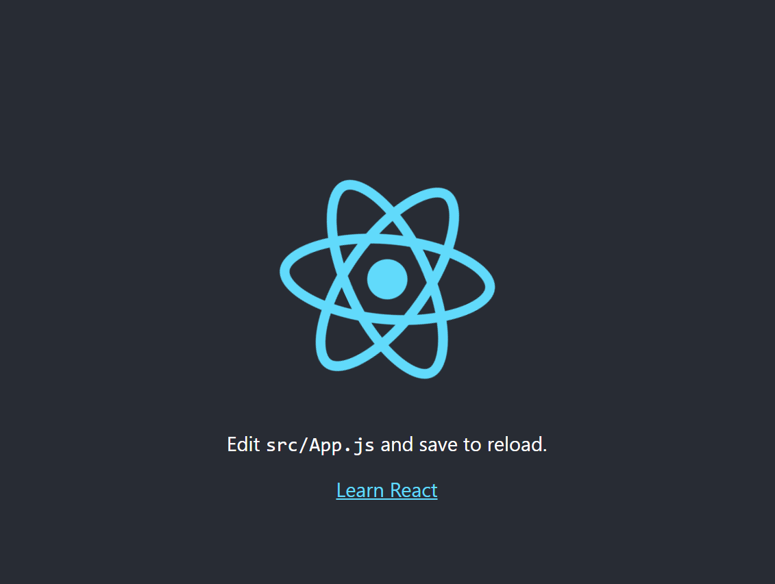 React Successful Install