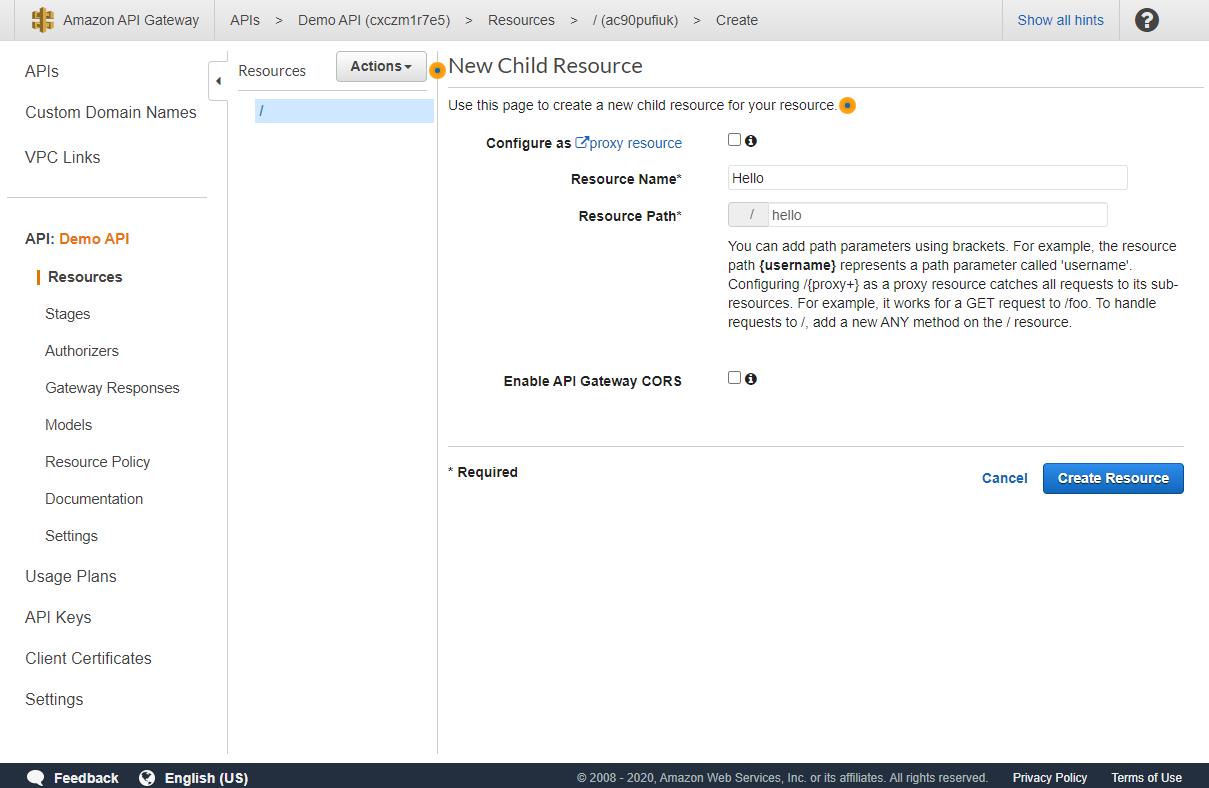 create resource serverless