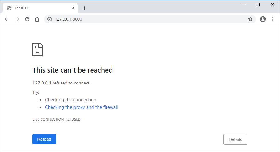 No server running