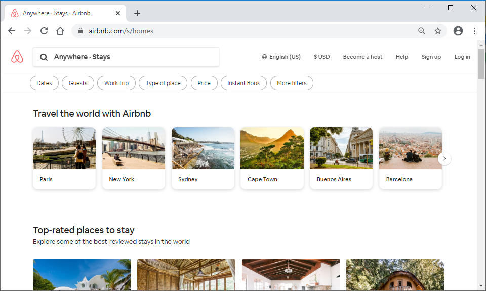 airbnb.com cards