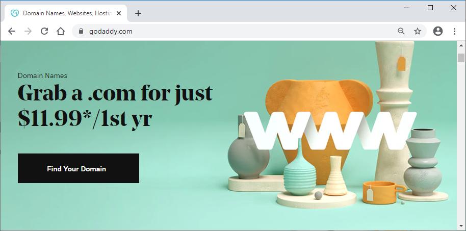 godaddy.com cta button