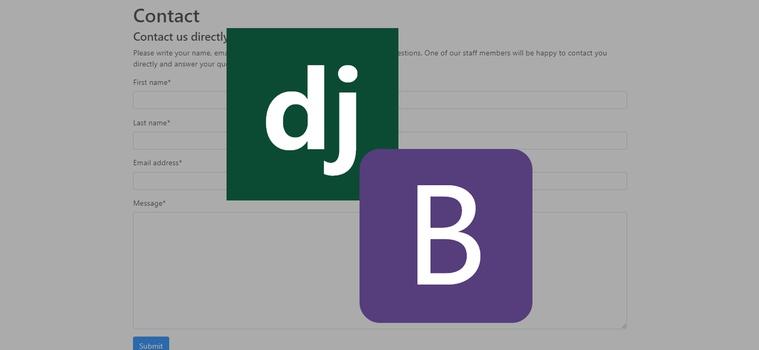 Render a Django Bootstrap Form