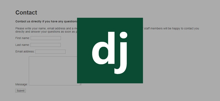 Build a Django Contact Form with Email Backend