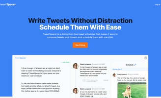 Walkthrough: TweetSpacer - Schedule Tweets and Easily Create Threads
