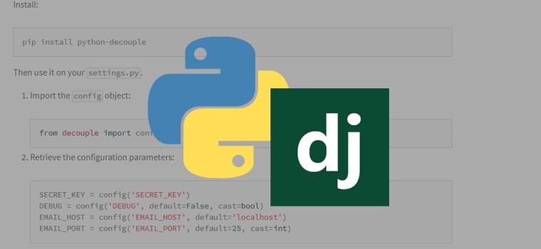 Secure Sensitive Django Variables using Python Decouple