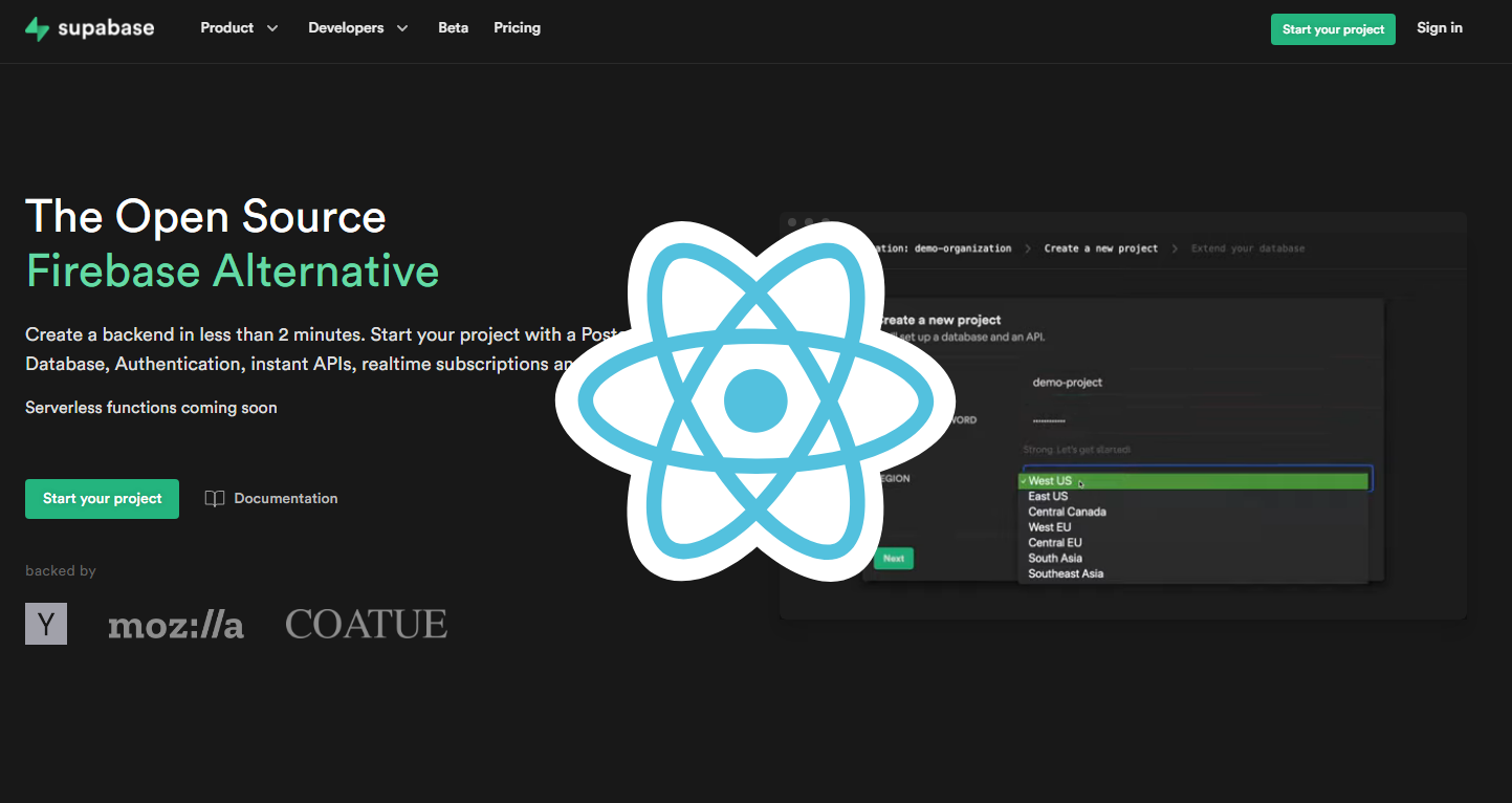 Let's Build an App with React + Supabase (Firebase Alternative)
