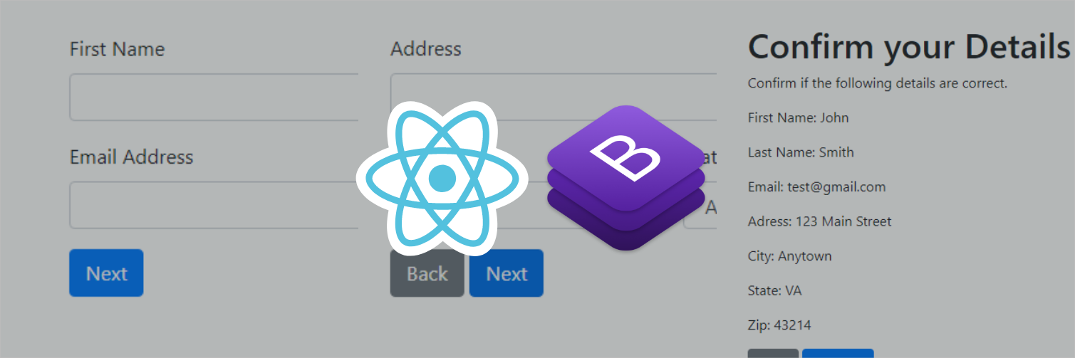 React Bootstrap Forms: Simple and Multi-Step Forms
