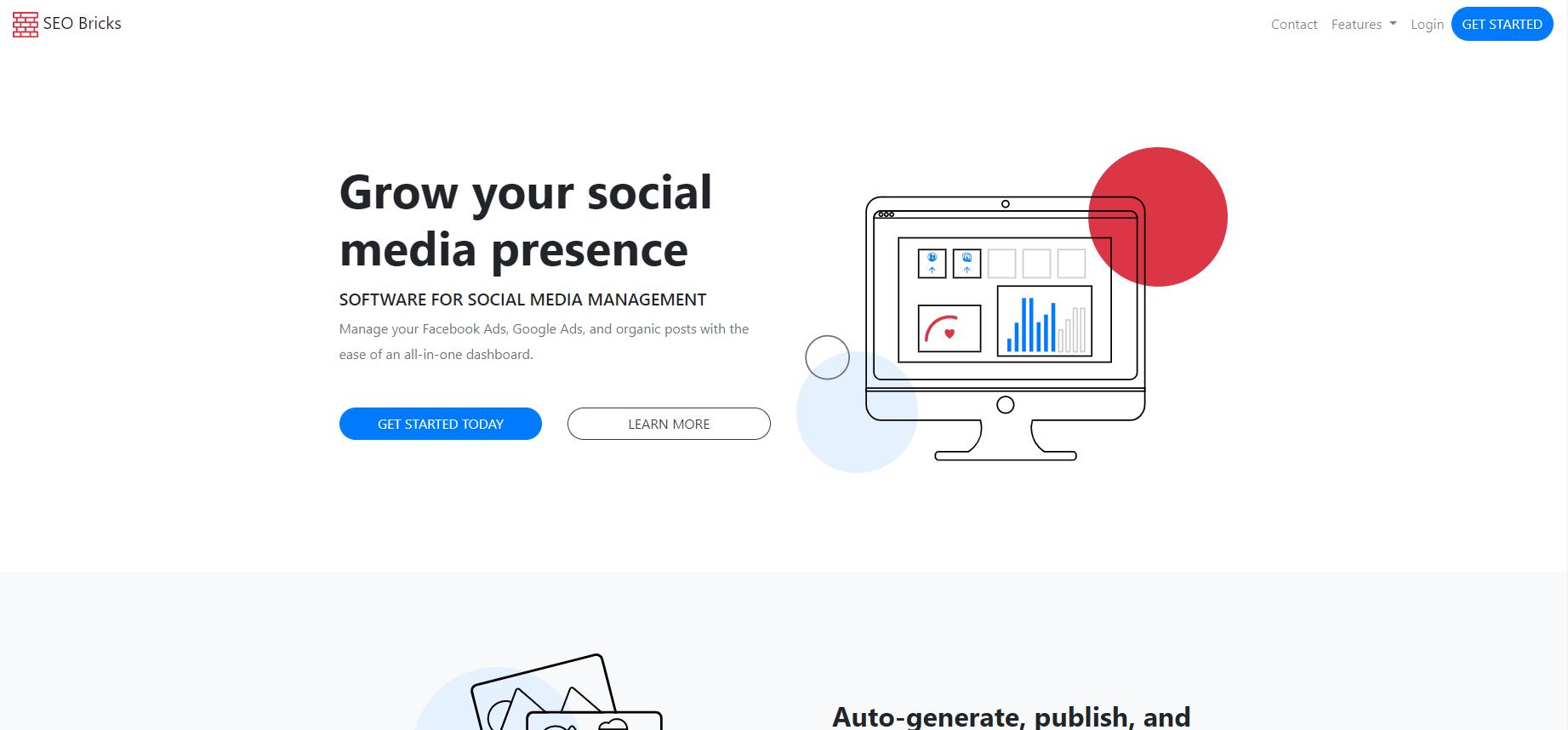 Social Media SAAS Template 2