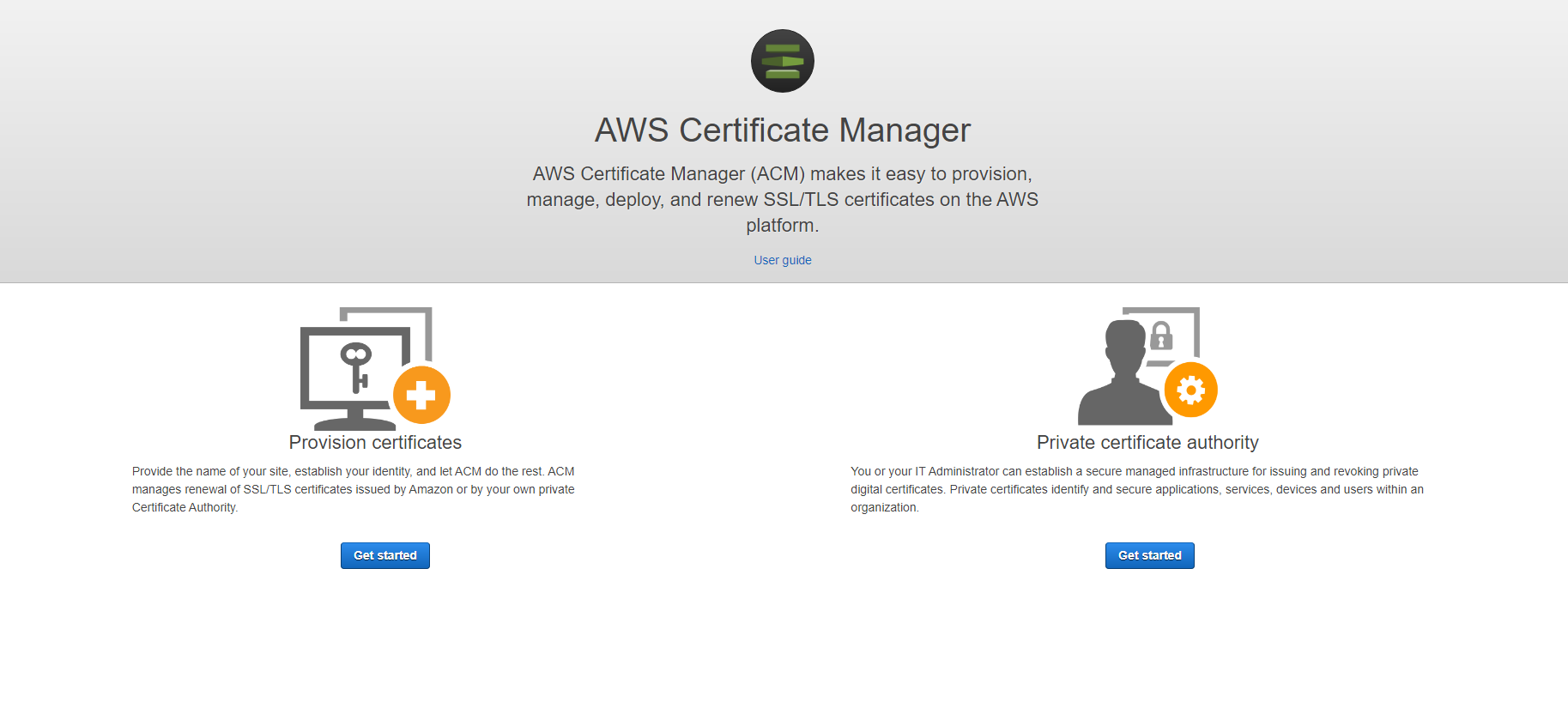 AWS Provision certificate
