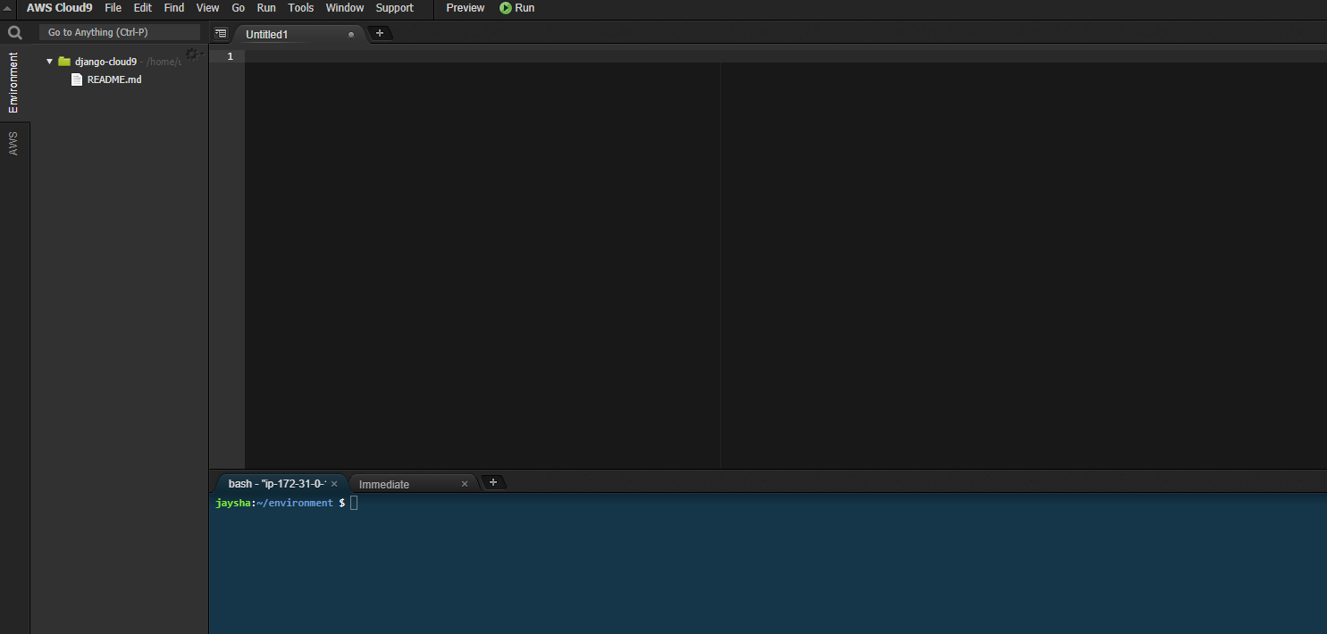 AWS Cloud9 IDE