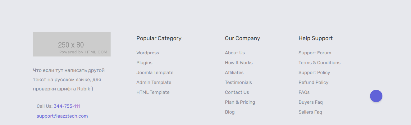 Responsive footer bootstrap 4