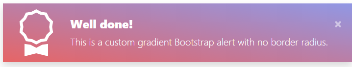 Bootstrap Alert with icon and gradient