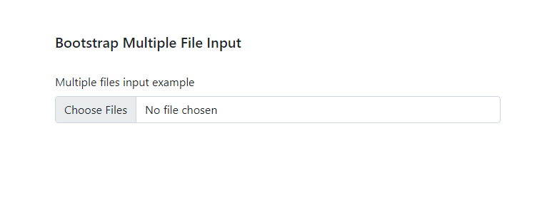 Bootstrap multiple file uploads
