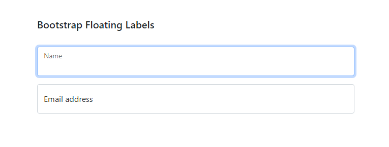 Bootstrap floating labels
