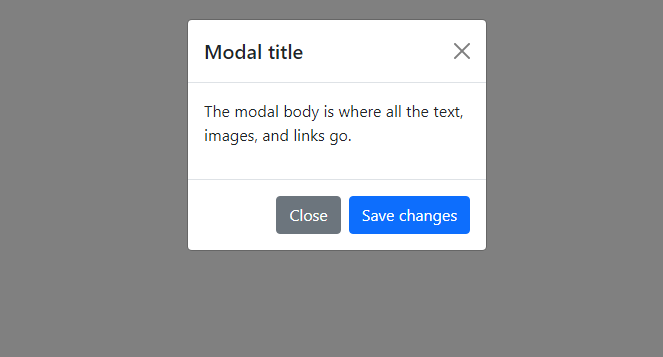 Small Bootstrap Modal