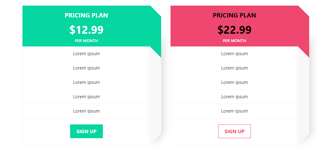 Bootstrap Pricing Table CodePen by Aashima