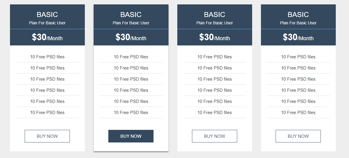 Bootstrap Pricing Table CodePen by Ansiur