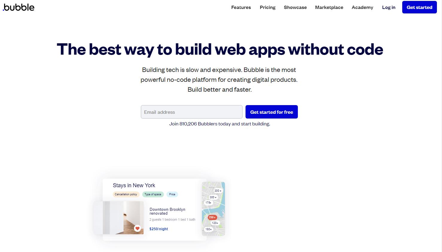 Bubble Homepage
