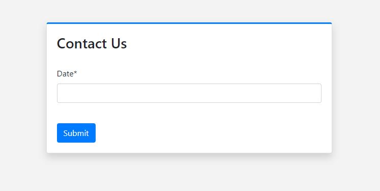 Django DateField in browser