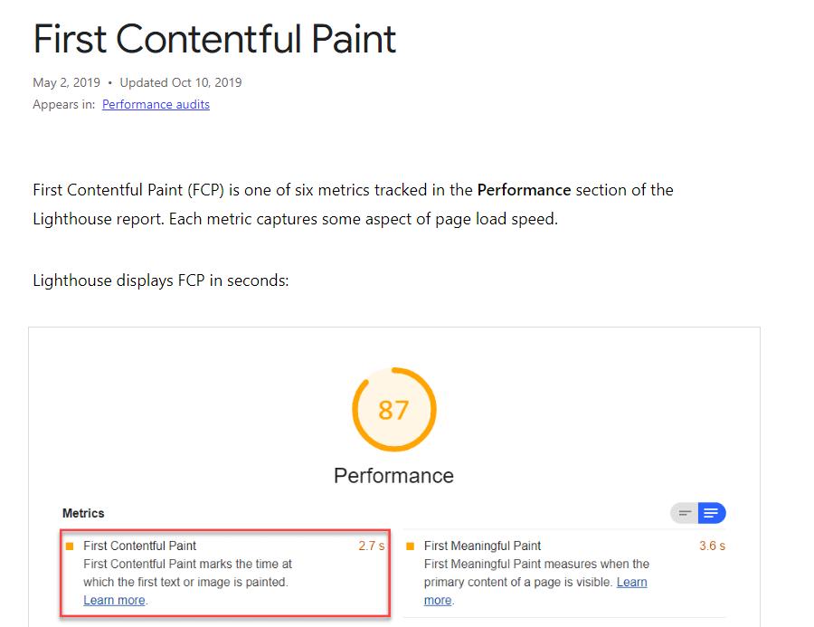 Google FPC score