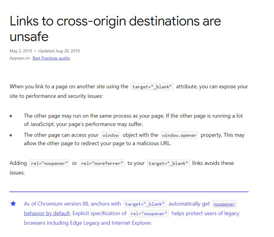 Google Best practices article