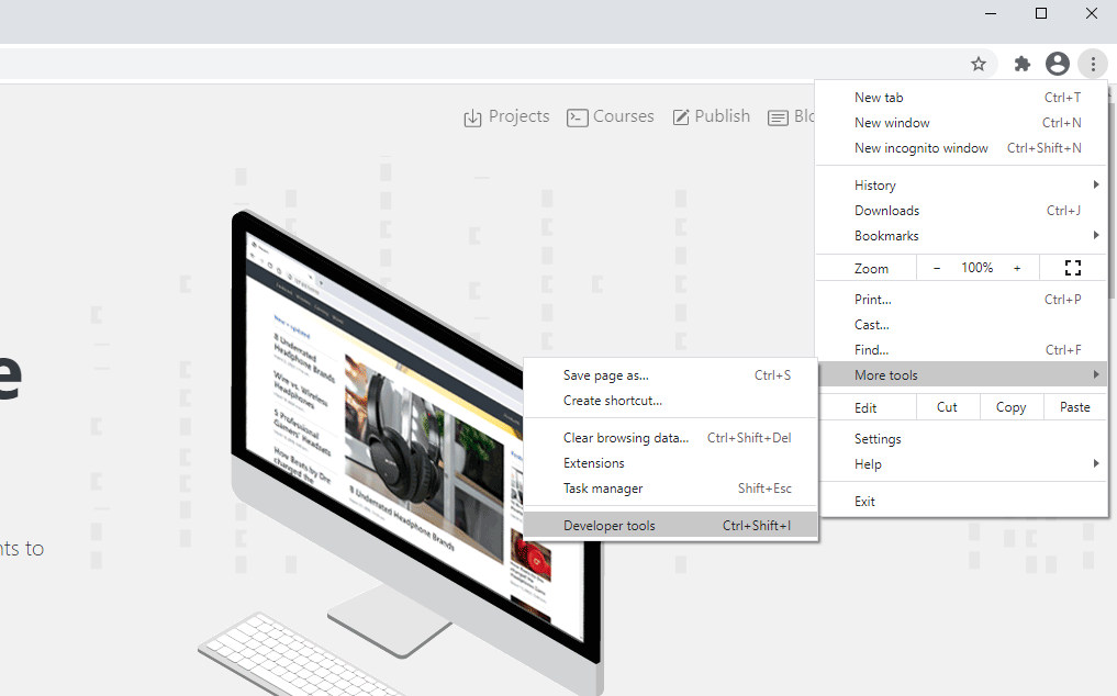 How to access Chrome DevTools