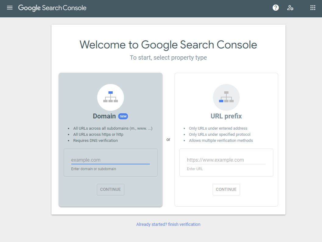 Google Search Console Sign Up
