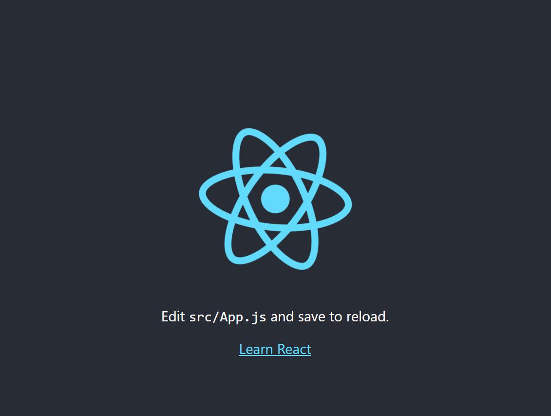 Default create react app opening in browser