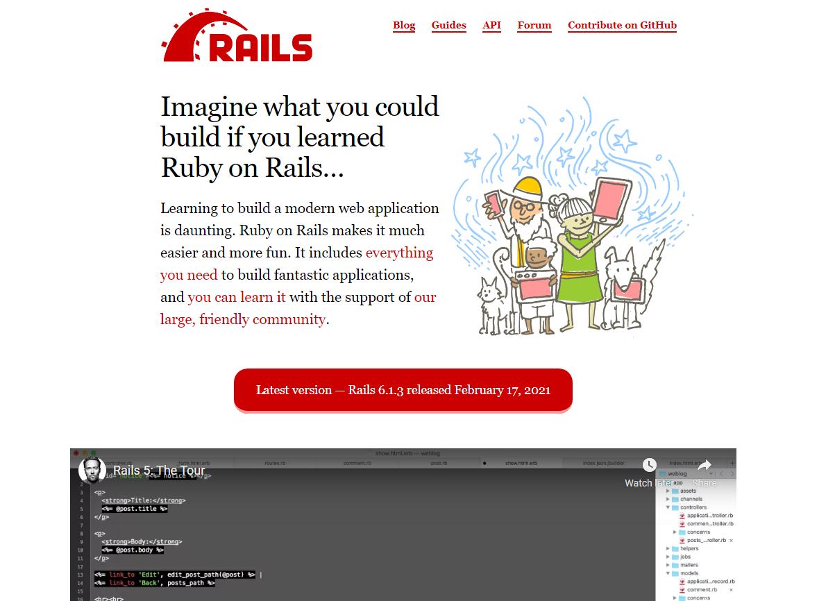 Ruby on Rails Web Framework