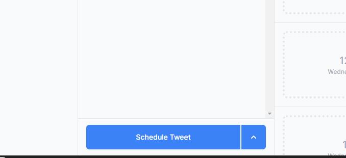tweet spacer schedule button