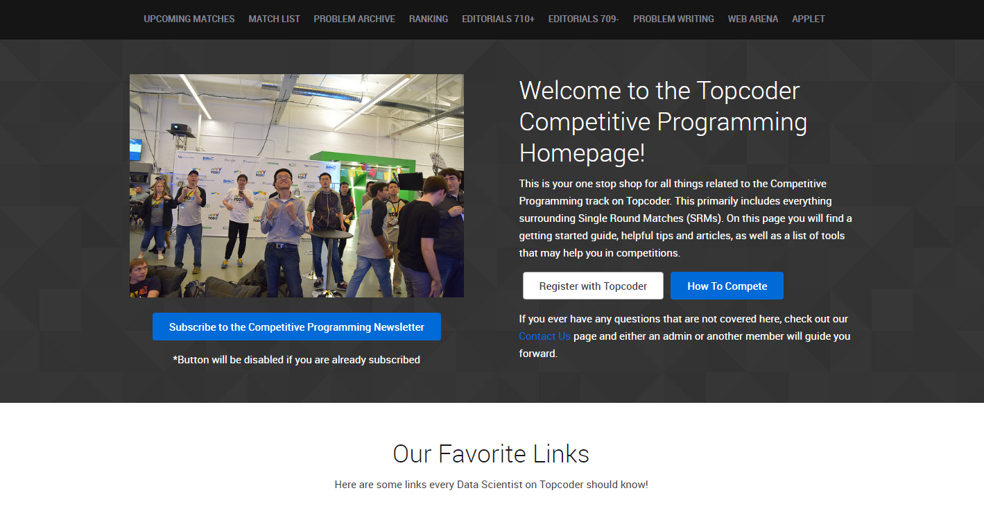 Enter a Coding Competition on TopCoder